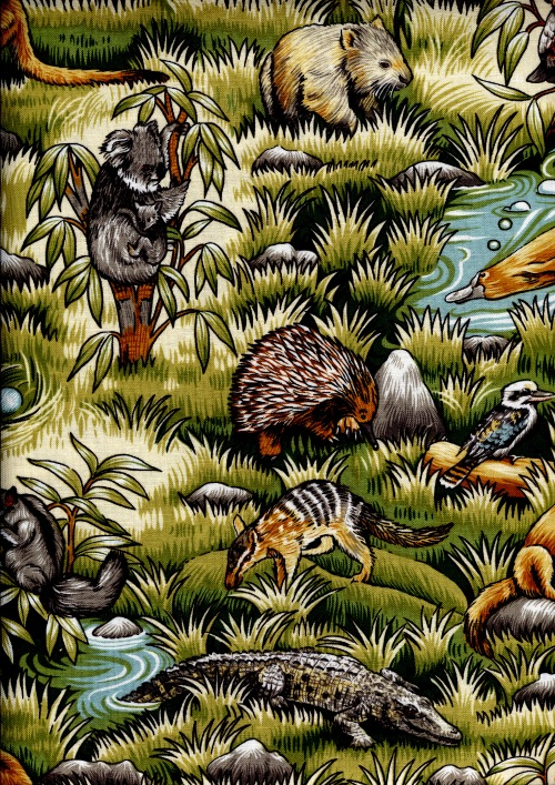 Australia Wild Fabric 100% Cotton 2